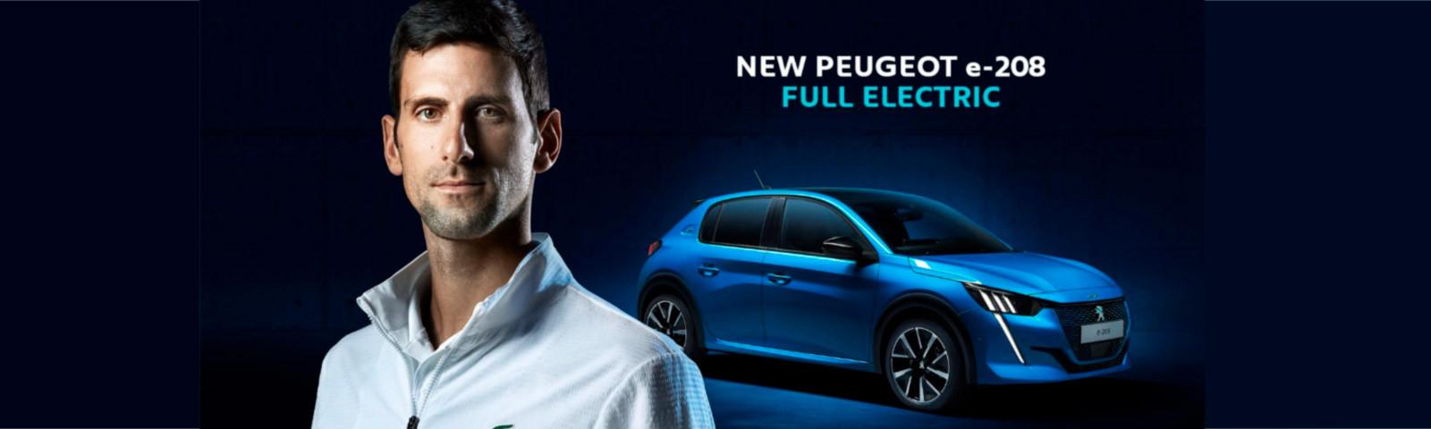 Lanzamiento de la nueva campaña internacional PEUGEOT e-208 con Novak Djokovic