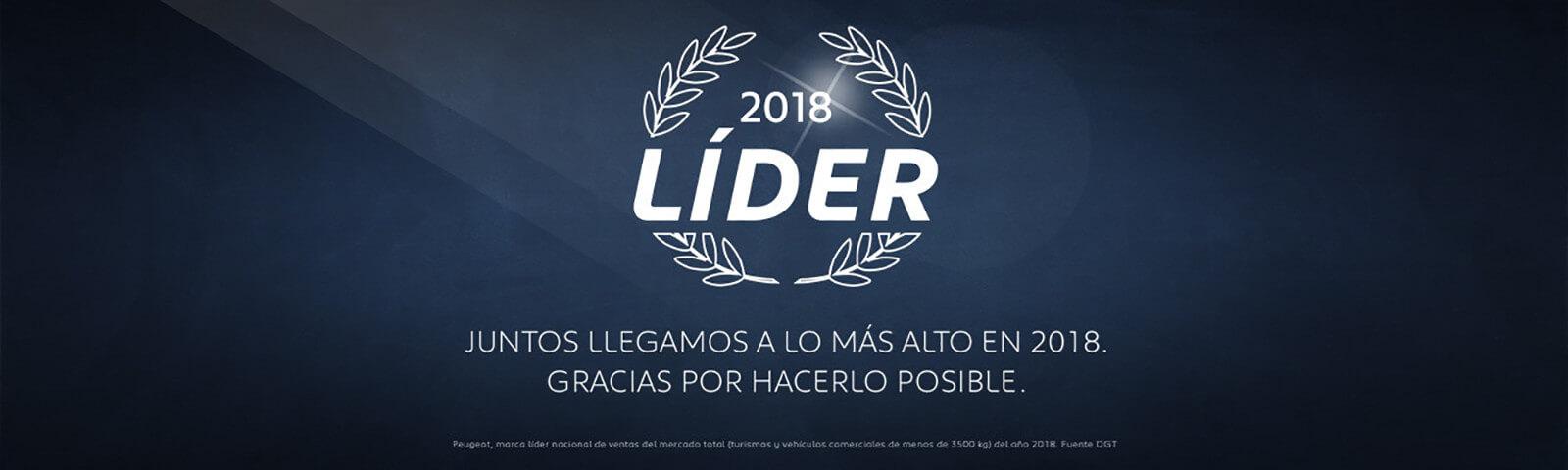Peugeot España cierra como líder del mercado español 2018